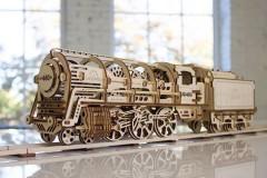 乌格 Ugears 木质机械传动蒸汽机车模型