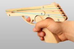 OGG CRAFT连发皮筋木枪儿童玩具