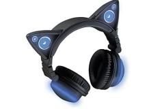 宏图三胞BROOKSTONE变色发光猫耳蓝牙耳机