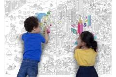 OMY 儿童大幅填色装饰画