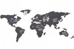 Umbra Mappit 金属世界地图墙饰