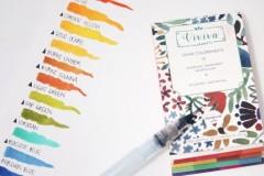 Viviva Colorsheets便携固体水彩颜料分装卡