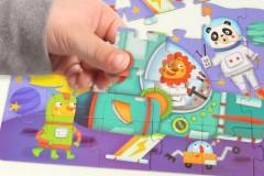 弥鹿MiDeer四合一幼儿益智拼图玩具