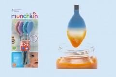 满趣健Munchkin婴儿感温变色勺