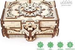 乌格UGEARS拼装积木古董珠宝盒