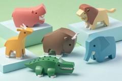 哈福HaFu磁力拼装动物积木