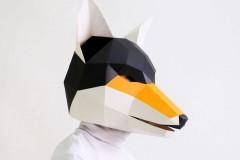 纸模手工头套面具