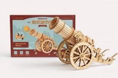 若态 ROBOTIME 若客 ROKR 加农炮攻城弩 3D 立体拼图玩具