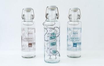 Soulbottles个性插画玻璃水瓶