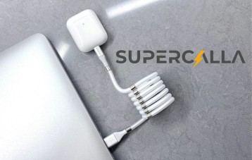 Supercalla磁吸收纳充电数据线