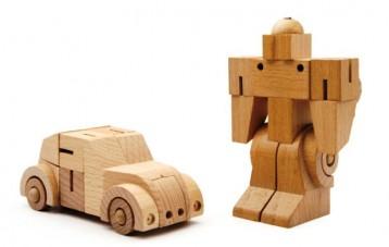 班门乐府Bamloff木制变形积木