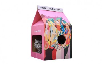 Tinklylife大艺术家猫窝猫抓板